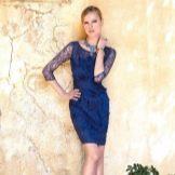Вечернее платье от Carla Ruiz короткое