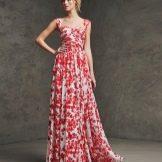 Вечернее платье от pronovias цветное