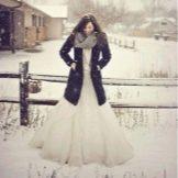 Свадебный зимний образ