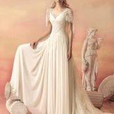 Свадебное платье из коллекции «Эллада» с рукавами