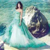 Свадебное платье от alessandro angelozzi бирюзовое