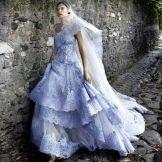 Свадебное платье от alessandro angelozzi голубое