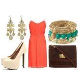 Аксессуары для платья оранжевого цвета