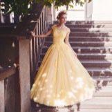 Свадебное платье от Tulipia  желтое