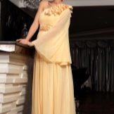 Вечернее платье из Китая желтое