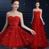 Красное вечернее платье из Китая в пол
