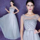 Вечернее платье из Китая из шифона