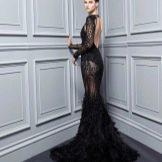 Платье с открытой спиной со шлейфом