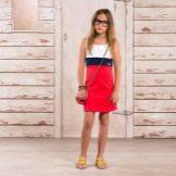 Летнее цветное платье для подростка