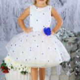 Новогоднее платье для девочки в стиле 60-х