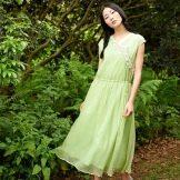 Салатовое платье для девушек цветотипа лето