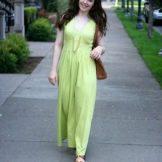 Салатовое платье для полных девушек