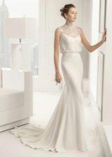 Свадебное платье русалка со свободным верхом