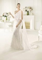 Белое свадебное платье в стиле бохо-шик