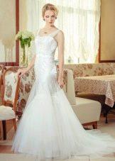 Свадебное платье с прозрачными бретелями от Anna Delaria