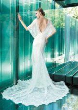 Свадебное платье с открытой спиной от YolanCris