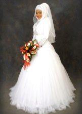 Свадебное платье пышное мусульманское