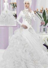 Пышное мусульманское свадебное платье