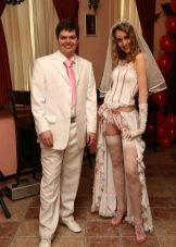 Свадебное откровенное платье боди