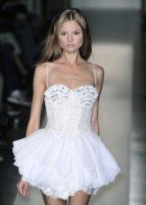 Ультракороткое свадебное платье в стиле беби дол