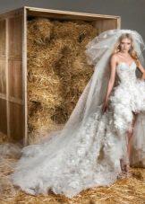Свадебное платье от Зухаира Мурада короткое