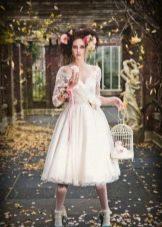 Свадебные платья укороченные