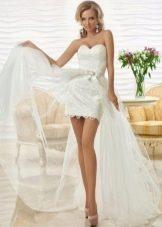 Короткое ажурное свадебное платье от Оксана Муха