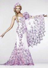 Свадебное платье с кружевом в русском стиле