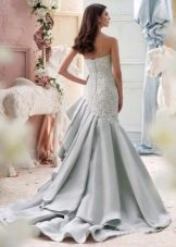 Свадебное платье русалочка синего цвета