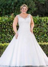 Свадебное платье для полных А-силуэта