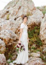 Свадебное прямое платье для венчания