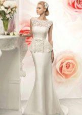 Свадебное платье от Naviblue Bridal с баской