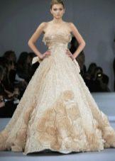 Свадебное платье от Elie Saab с цветами