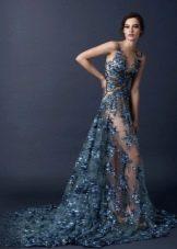 Свадебное платье от Paolo Sebastian ажурное