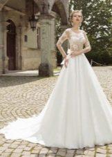 Свадебное платье от Armonia с ажурным верхом