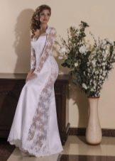 Свадебное платье от Viktoria Karandasheva с кружевными вставками