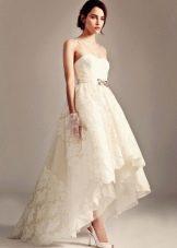 Свадебное платье от Temperley London короткое спереди