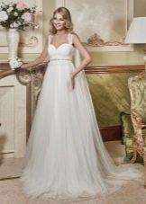 Свадебное платье ампир из шифона