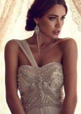 Свадебное платье ампир на одно плечо от Анны Кэмбелл
