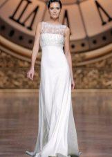 Свадебное платье ампир с кружевным верхом