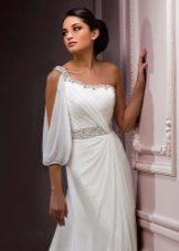 Свадебное платье в стиле ампир  с симметричным лифом