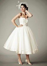 Свадебное платье пышное короткое в стиле 50-х