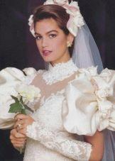 Свадебное платье в стиле 80-х