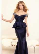 Вечернее платье от Terani Couture с баской