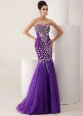 Вечернее платье от Angela & Alison фиолетовое