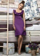 Темно-фиолетовое вечернее платье