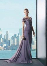 Лавандовое платье темного оттенка