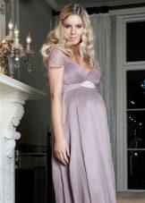 Лавандовое платье для беременных