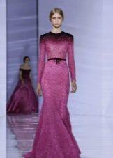 Сиренево- фиолетовое вечернее платье