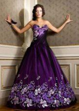 Фиолетовое платье вечернее цветное
